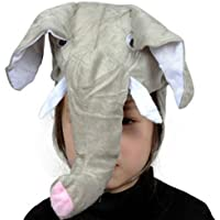 HuaQingPiJu-JP かわいい子供のパフォーマンスアクセサリー漫画動物の帽子(象)