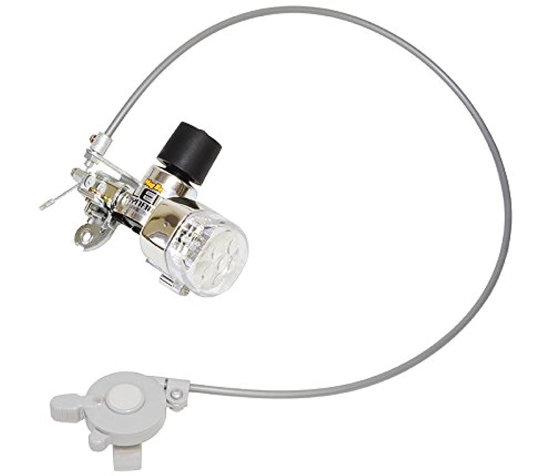 鳩精緻化追記丸善(MARUZEN) MagBoy 8LEDダイナモ(リモートレバー付/ MLA-8) メッキ/赤LED 03370
