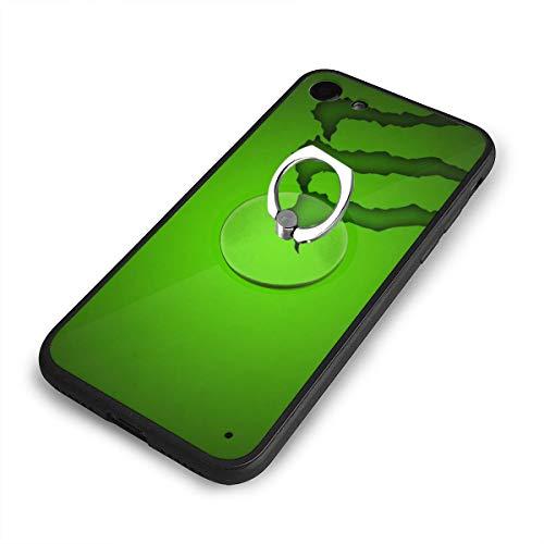 グリーン モンスターエナジー ロゴ IPhone6 Plus ケース IPhone6s Plus ケース 背面ガラス+TPUバンパー 超薄超軽量 おしゃれ 指紋防止 一体型 人気 耐衝撃 すり傷防止 超耐久 スマホケース