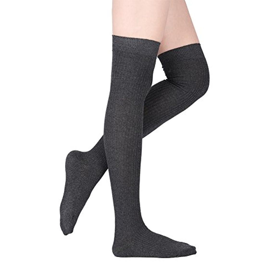 同封する確認してください現金オーバーニーソックス - Delaman 着圧ストッキング ニーハイ、綿混、靴下、通学防寒、保温、スッキリ、美脚、 全5色