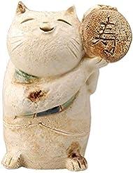 ごえん猫 香炉 (寿) [ H8cm ] 【 香炉 】 【 HANDMADE 置物 インテリア ギフト プレゼント 】