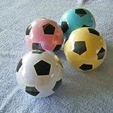 【サッカー好きの皆様にオススメ!】サッカーボールタオル 1個/プチギフト/圧縮タオル/カラフル