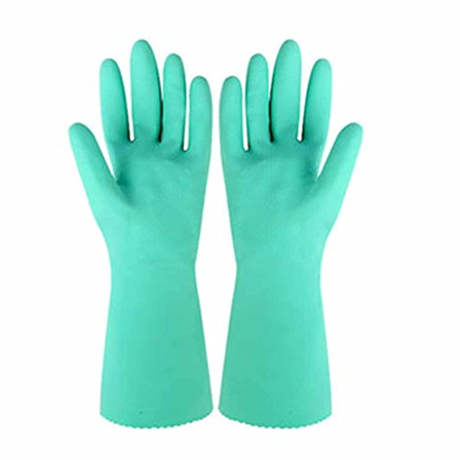 廃止孤独な同化する使い捨て手袋 天然ゴム滑り止め耐久手袋キッチン多機能防水アンチオイル手袋 (Size : Four)