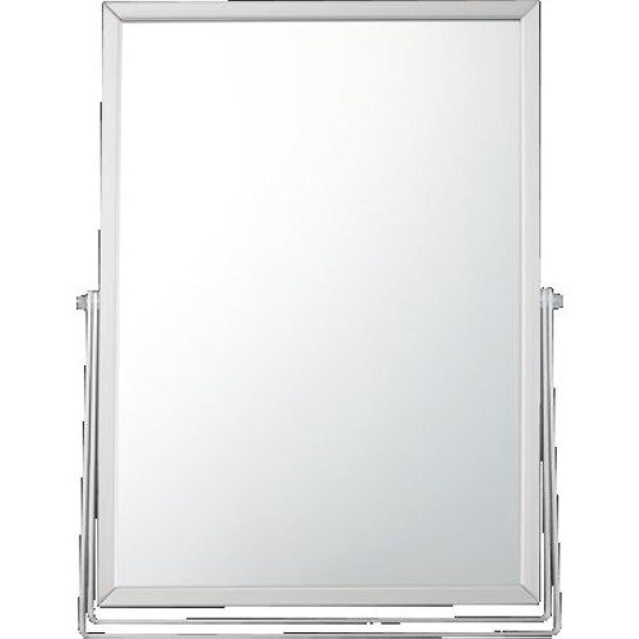 メッシュレール空貝印 アルミスタンドミラー 角型L KX0753