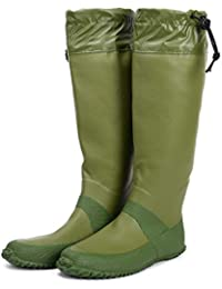 [HUGOO] レインブーツ 梅雨 折りたたみ 長靴 メンズ レディース キッズ レインシューズ パクト収納 【5カラー / 23cm~27cm 対応】
