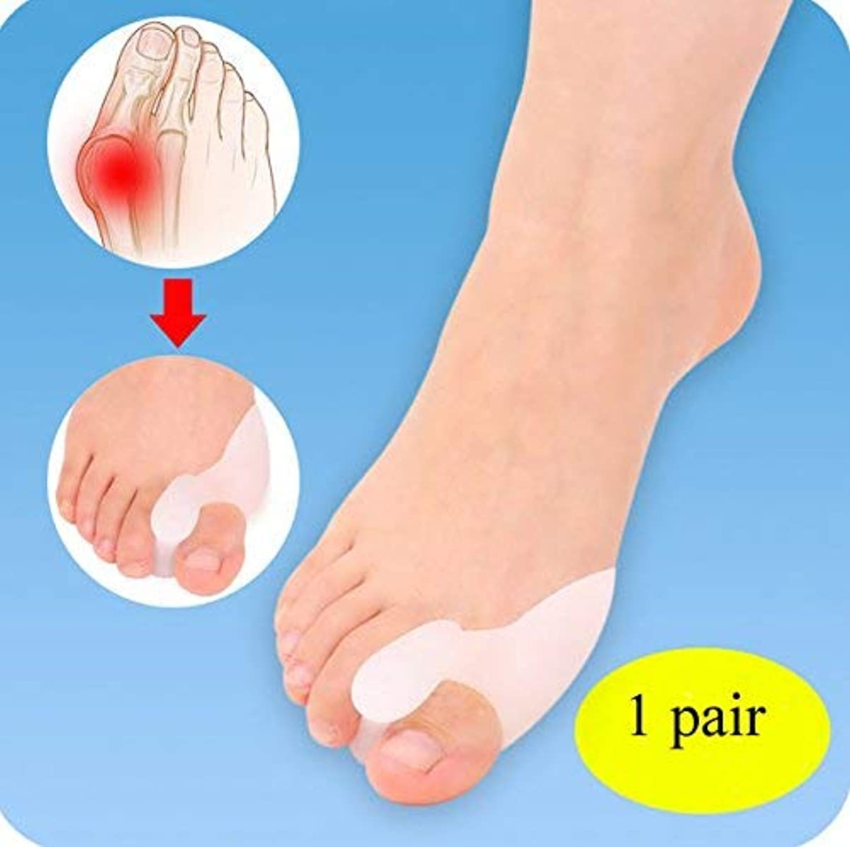 ブルジョンメタンリール1ダブルパック膀ス炎プロテクターゲルヒール痛ハルクスバルガスつま先分離シリコーン
