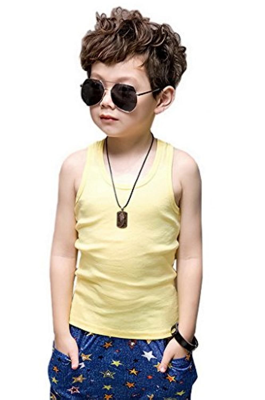 YiyiLai タンクトップ キッズ 女の子 男の子 綿 子供用 ノースリーブ シャツ インナー トップス コットン キャミソール 学生
