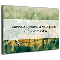 Steven Robert Surround Yourself With Peace And Positivity Quote アートパネル アートフレーム キャンバス絵画 インテリアパネル インテリア絵画 インテリア装飾 壁飾り木枠セットお洒落 アートパネル Arts モダン 新築飾り 贈り物 40x30cm