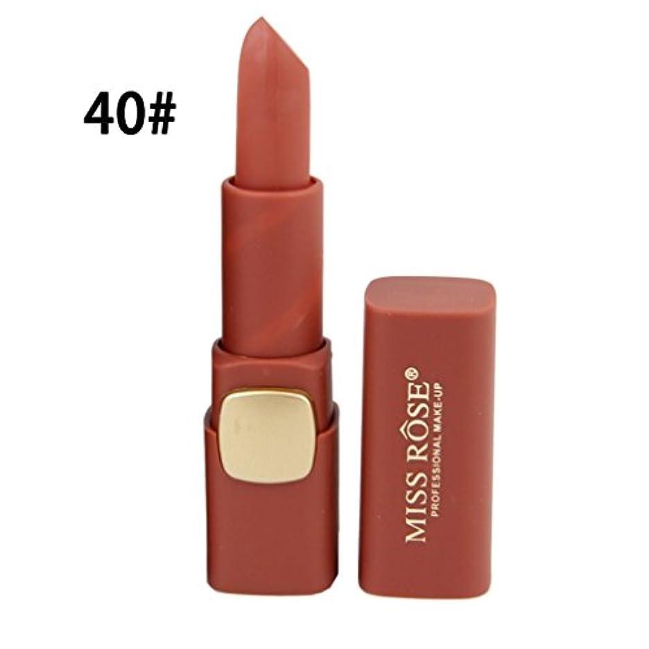 カフェテリア十分な現代のリップスティックロングラスティング女性の唇のメイクアップ口紅を着用するコンパクトサイズのマットリップスティック防水栄養簡単