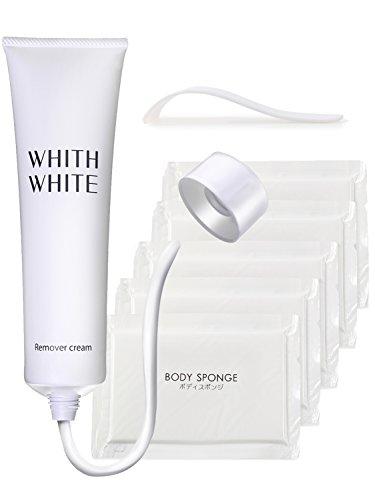 WHITE フィス ホワイト レディース 女性 除毛クリーム 150g ( 医薬部外品 ) (プレミアムセット(除毛クリーム1本+S字ヘラ1本+スポンジ5個))