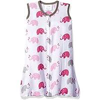 Bacati Elephants Sleep Sack, Pink/Grey, Small by Bacati