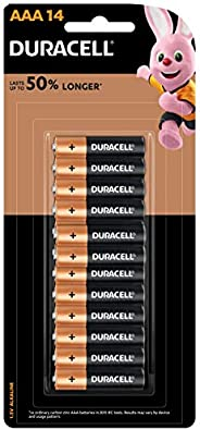 Duracell Coppertop Alkaline AAA Battery, 14 Pack