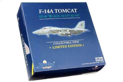 1:72 Witty Sky Guardians (シリーズ 2) WTW72009-24 Grumman F-14A トムキャット ダイキャスト モデル USN VF-41 黒 Aces AJ107