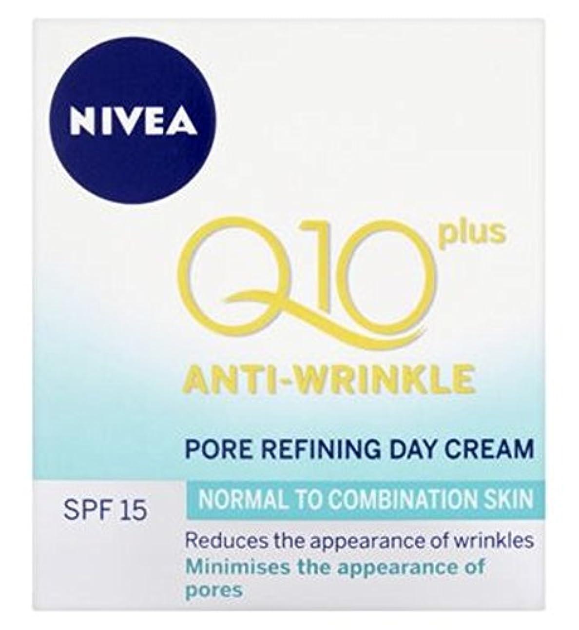 ウェイター死んでいる類推Nivea Daily Essentials Q10 Plus Anti-Wrinkle Pore Refining Day Cream For Normal to Combination Skin SPF15 50ml...