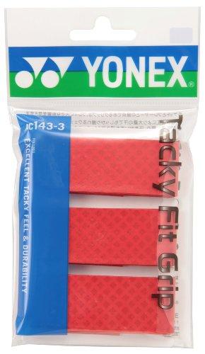 ヨネックス(YONEX) タッキーフィットグリップ(3本入) レッド AC1433 001