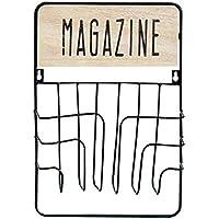 壁掛けシェルフ ウォールシェルフ 収納バスケット ファイルバスケット 鉄と木製 北欧風 INS風 シンプル クリエイティブ おしゃれ 新聞/雑誌/本/雑貨/小物収納 ブラック/ダークグリーン