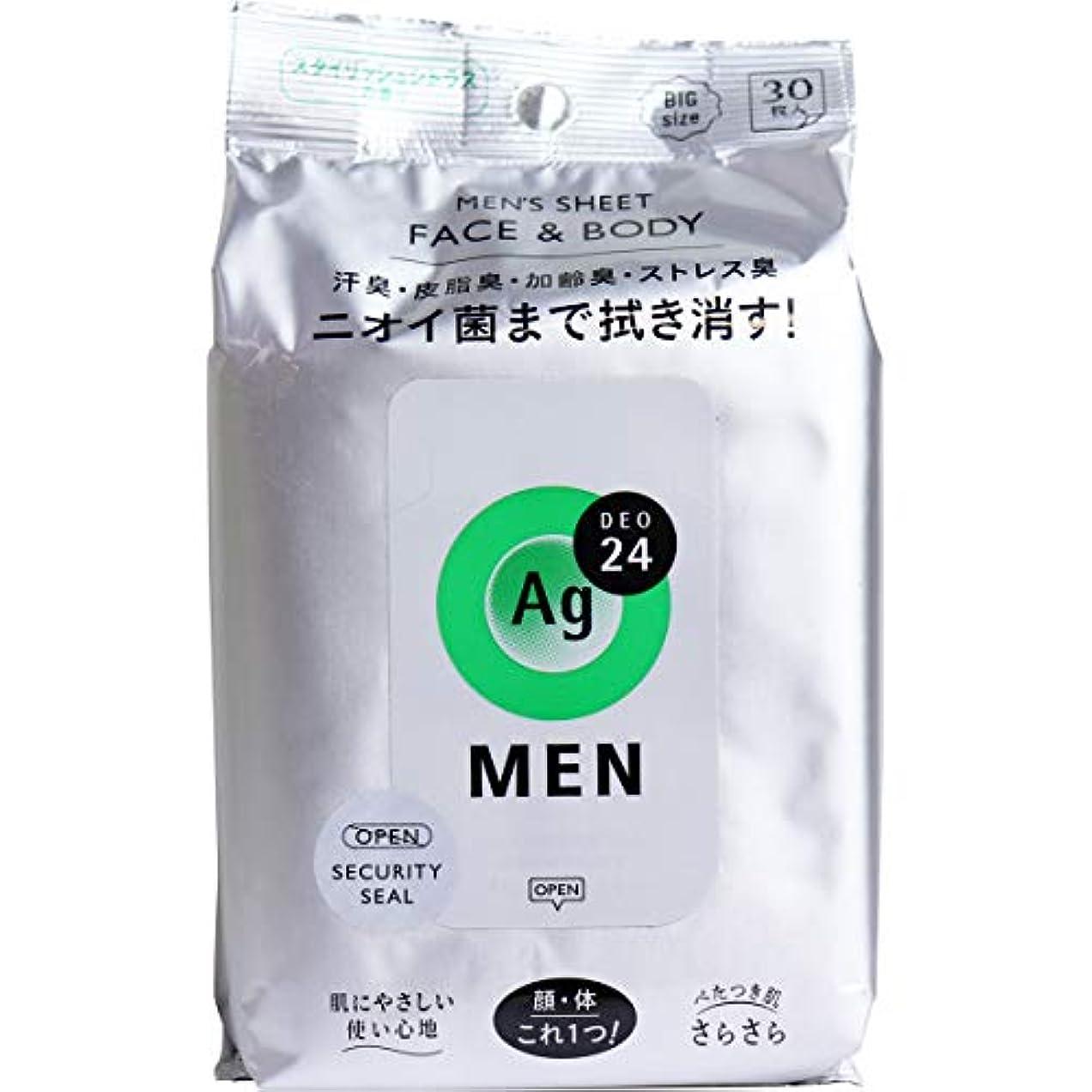 排気略奪意気消沈したエージー24メン メンズシート フェイス&ボディ(シトラス)30枚 (3)