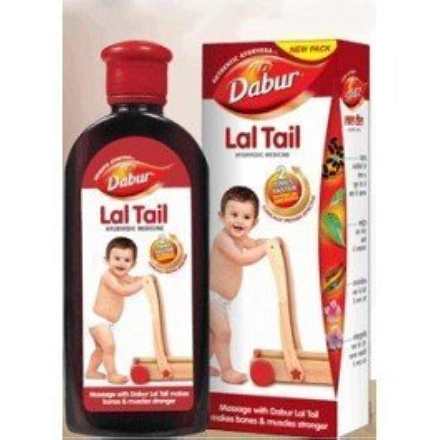 鉛スリップ廃止するBaby / Child Natural Strengthening Herbal Ayurvedic Baby Massage Oil Dabur Lal Tail 100ml Large Size Infant by...