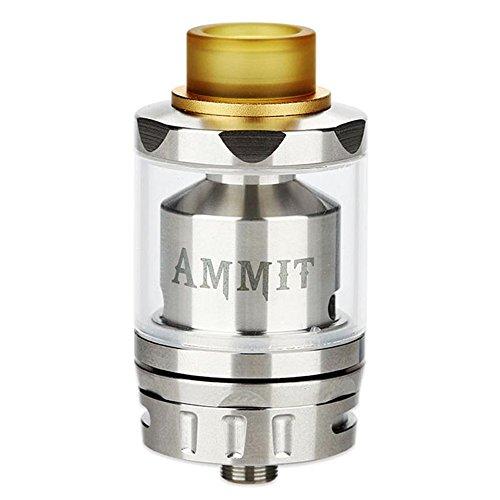 GeekVape Ammit RTAデュアルコイルバージョン3ml Atomizer 電子タバコエレクトリックシガレットアトマイザータンク、20mmポストレスビルドデッキ (Silver)