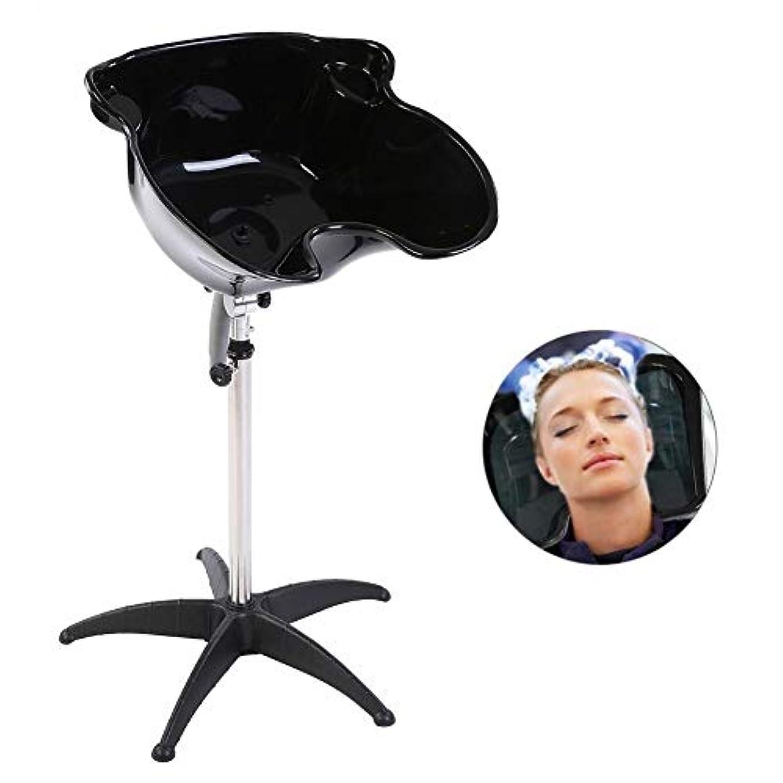 システム差し控える残酷なZJchao サロンのヘアシャンプー流域、(ドレインボウルなし)高さ調節理髪逆洗シンク