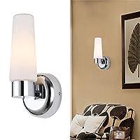 IP44浴室の壁の照明ミラーの照明を賭けることは虚栄心の壁ランプ、オパールガラスが付いているクロムを構成します