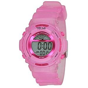 [クレファー]CREPHA 腕時計 デジタル ウレタンベルト 5気圧 防水 ピンク TE-D067-PK ガールズ
