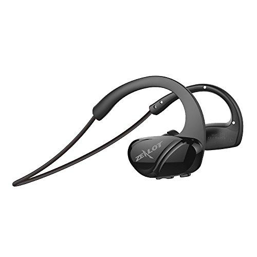 ZEALOT H6 Bluetooth イヤホン スポーツ ブルートゥース イヤホン 高音質 防塵 防汗 軽量 マイク内蔵 無線通話 (黒)