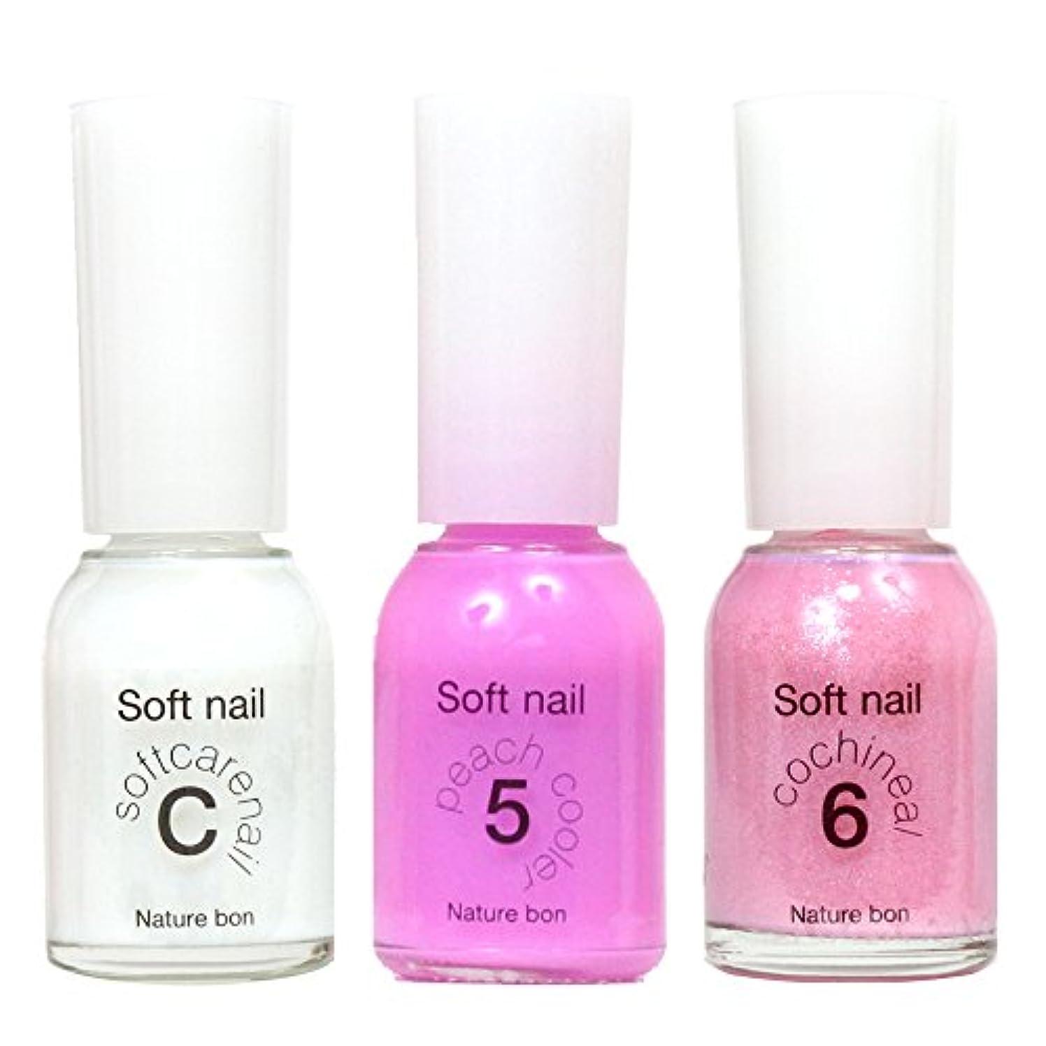 パイルゆるい均等に胡粉ネイル C-ケアートップコート,5-水桃(ピーチクーラー),6-コチニール(キラキラ薄ピンク) 合計3本セット ワンデイネイルc56