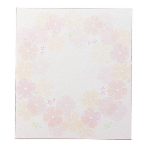 ミドリ カラー色紙 シール付 半透明 花柄 33212006