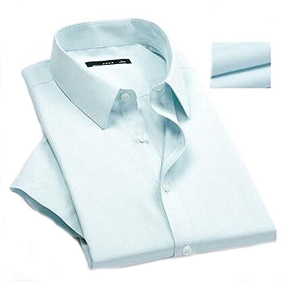 不合格凝視副Foxseon レディース 女性 オフィス シンプル コットン ワイシャツ 長袖 白Yシャツ