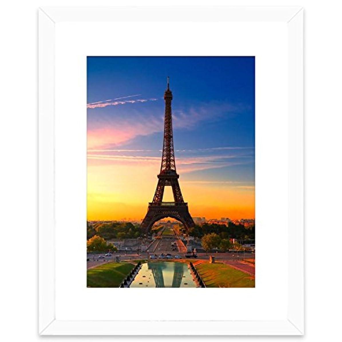 シェアかなりのふけるBetus エレガント ウッド フォト フレーム マット または 28x36cm マットなし付き - 芸術、絵画、写真用ディスプレイ フレーム - 壁面取り付けツール 20x25cm 写真用 ホワイト