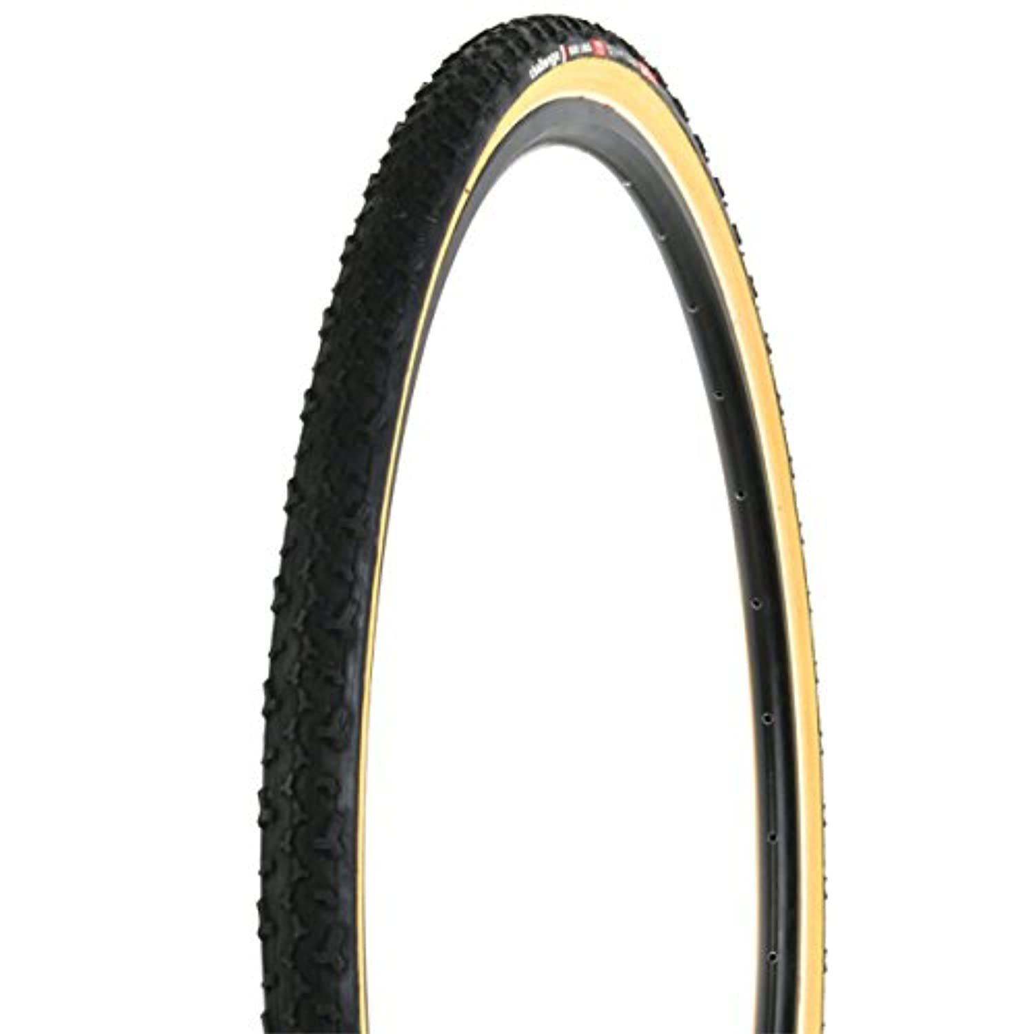 Challenge Baby Limus 700c Tubular Bicycle Tire (Black/Tan - 700 x 33) by Challenge
