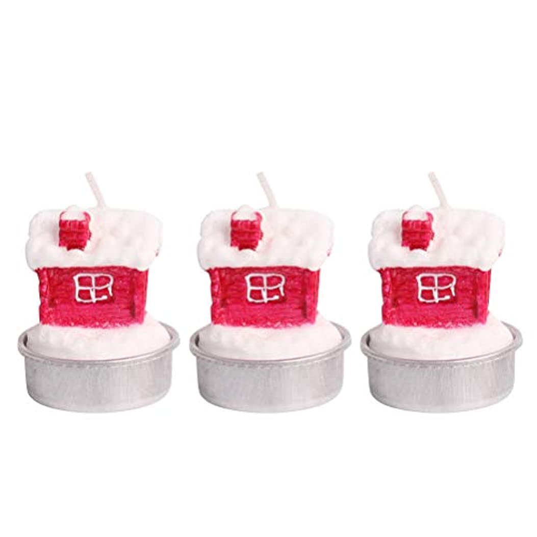 BESTOYARD ホルダー付きクリスマスキャンドルクリスマスハウステーブルデコレーション装飾品
