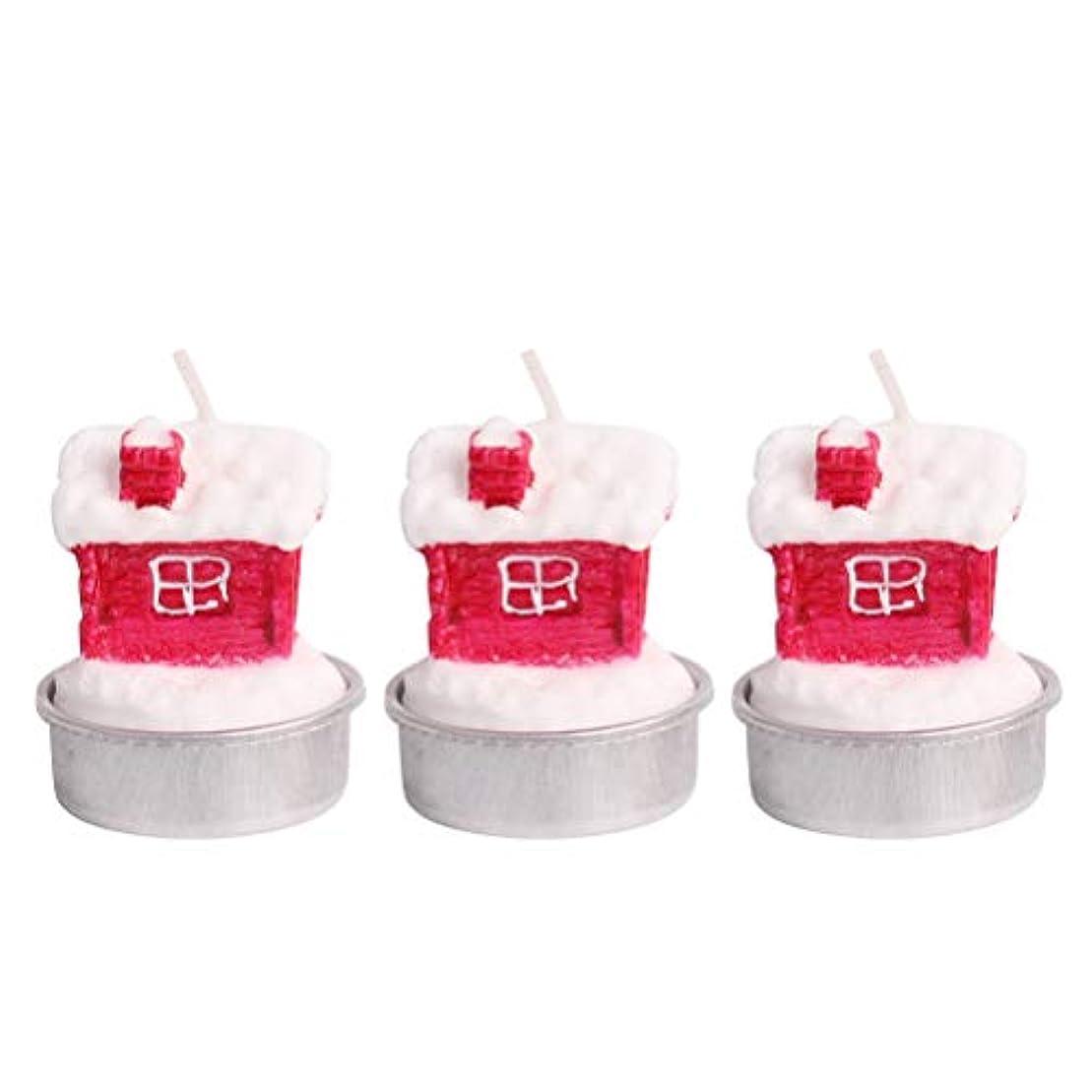 代替共感する重荷BESTOYARD ホルダー付きクリスマスキャンドルクリスマスハウステーブルデコレーション装飾品
