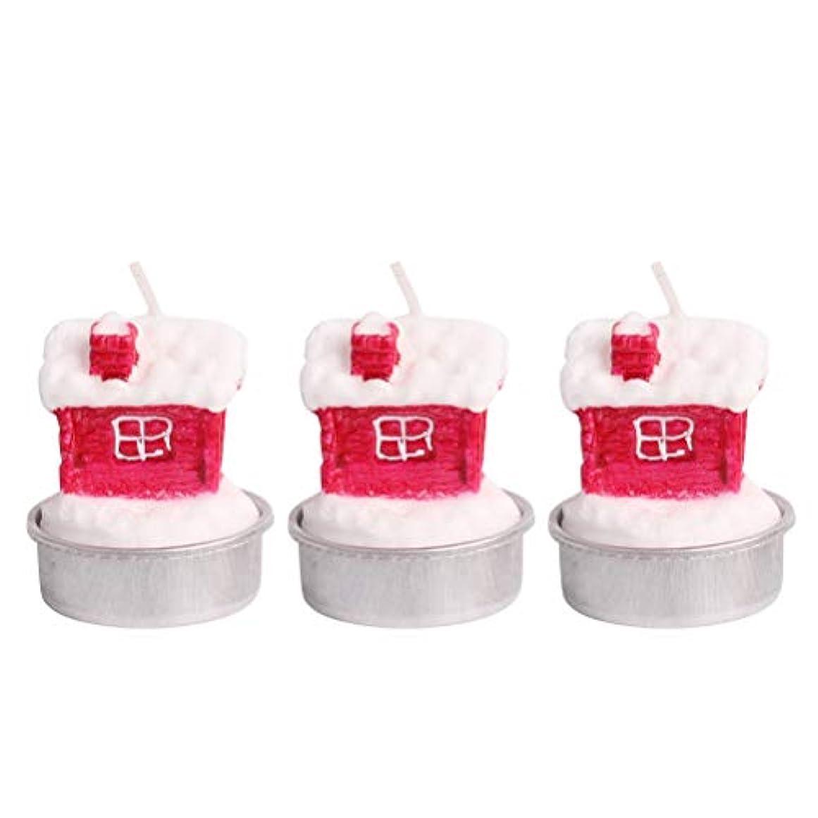 バラバラにする墓地欠陥BESTOYARD ホルダー付きクリスマスキャンドルクリスマスハウステーブルデコレーション装飾品