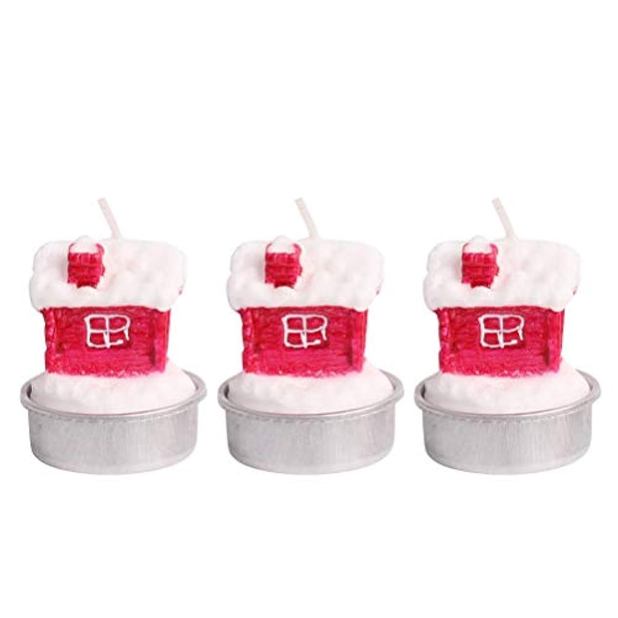 王朝ソース急ぐBESTOYARD ホルダー付きクリスマスキャンドルクリスマスハウステーブルデコレーション装飾品