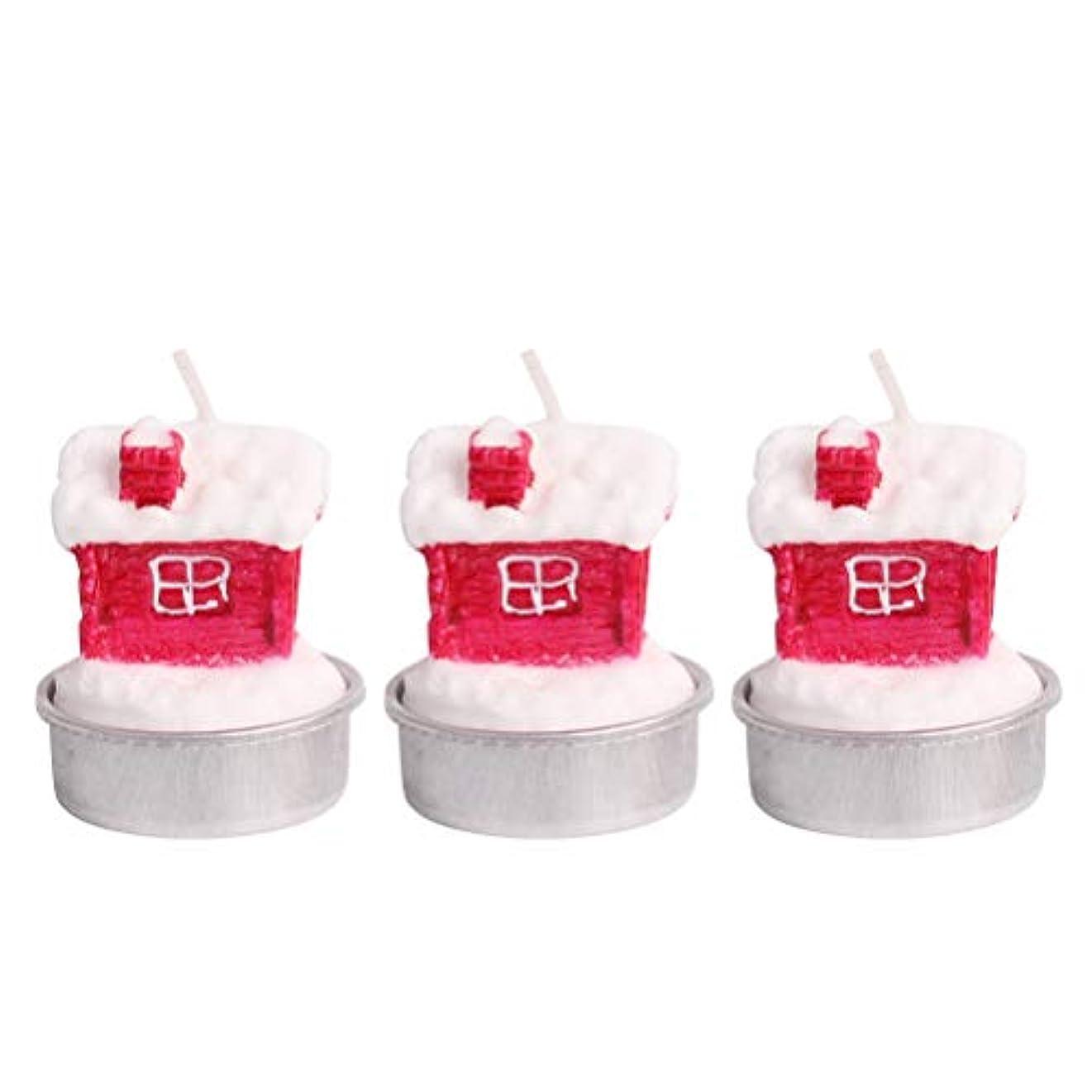 直接放射性反応するBESTOYARD ホルダー付きクリスマスキャンドルクリスマスハウステーブルデコレーション装飾品