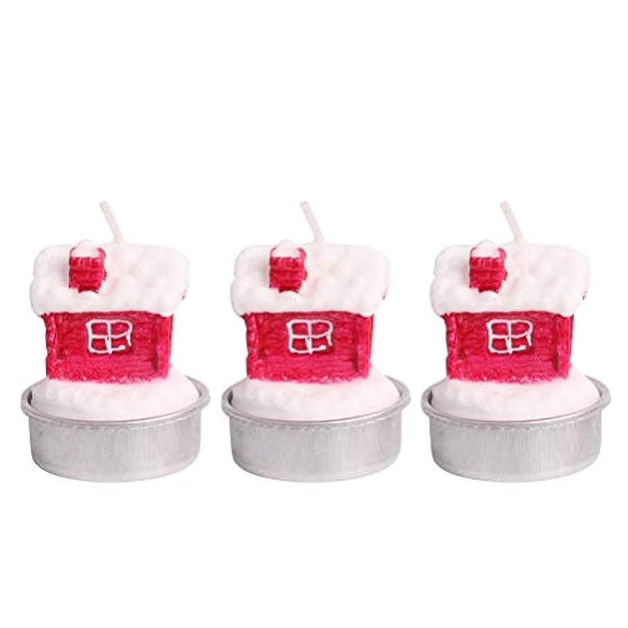 教育する欠伸請うBESTOYARD ホルダー付きクリスマスキャンドルクリスマスハウステーブルデコレーション装飾品