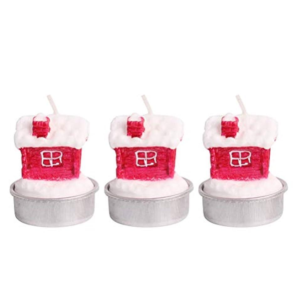 無視自我信仰BESTOYARD ホルダー付きクリスマスキャンドルクリスマスハウステーブルデコレーション装飾品