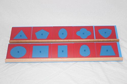 モンテッソーリ 幾何図形パズル メタルインセッツ Montessori Geometric Shape Puzzle 知育玩具