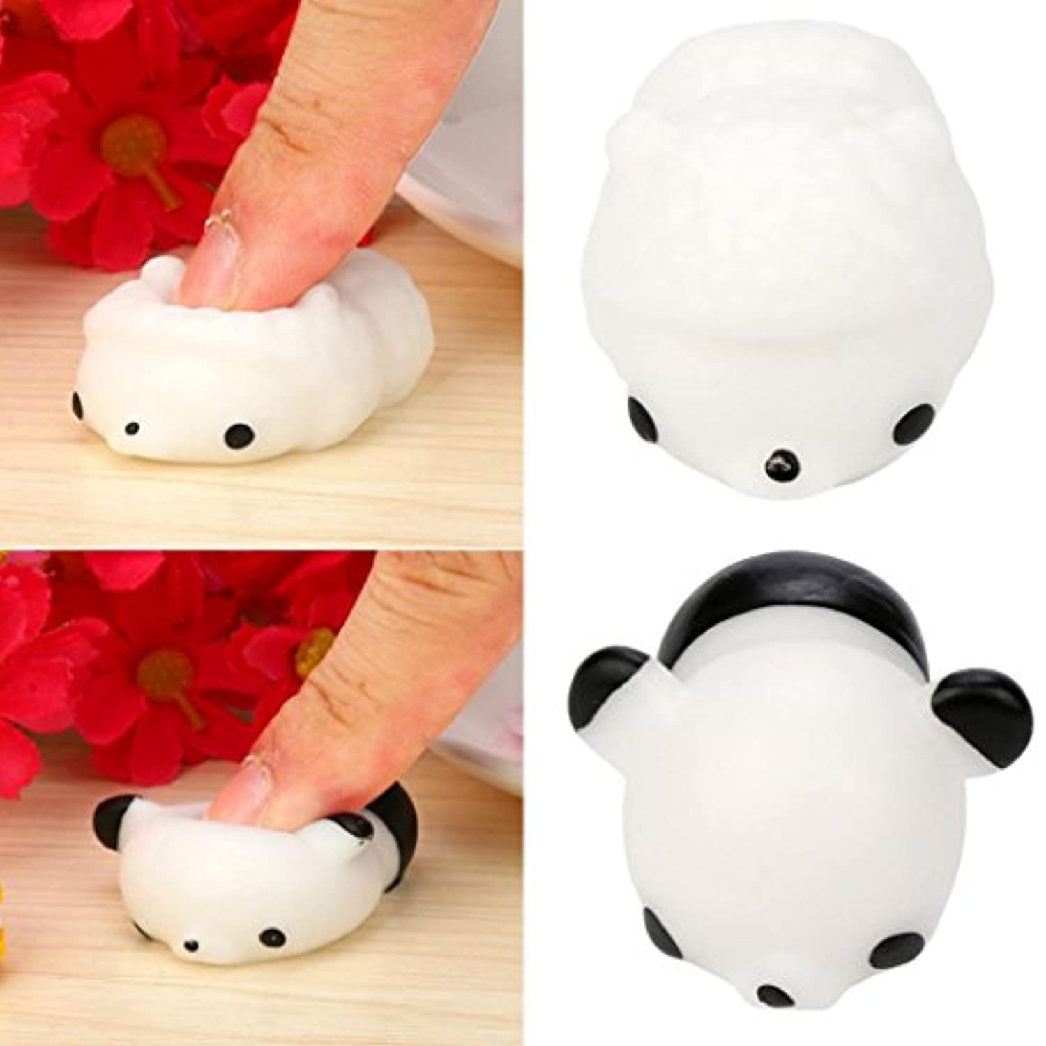 yjydada Squeezeパンダおもちゃ、かわいいMochi SquishyパンダSqueeze Healing Fun KawaiiおもちゃStress Reliever Decor