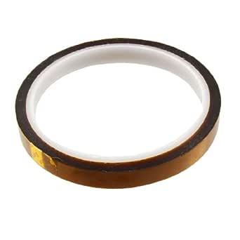uxcell 絶縁耐熱テープ 高耐熱テープ ポリイミドフィルム製アンバー 10mm広さ 28m長さ 接着剤テープ