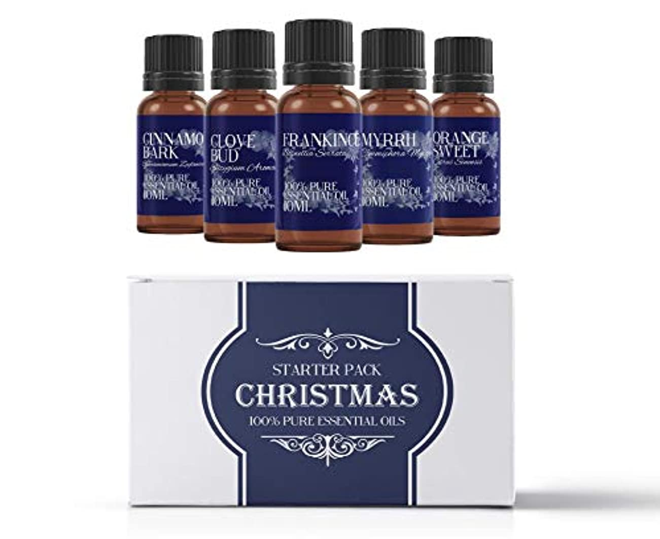 ポスターピクニックストリームMystic Moments | Essential Oil Starter Pack - Christmas Oils - 5 x 10ml - 100% Pure