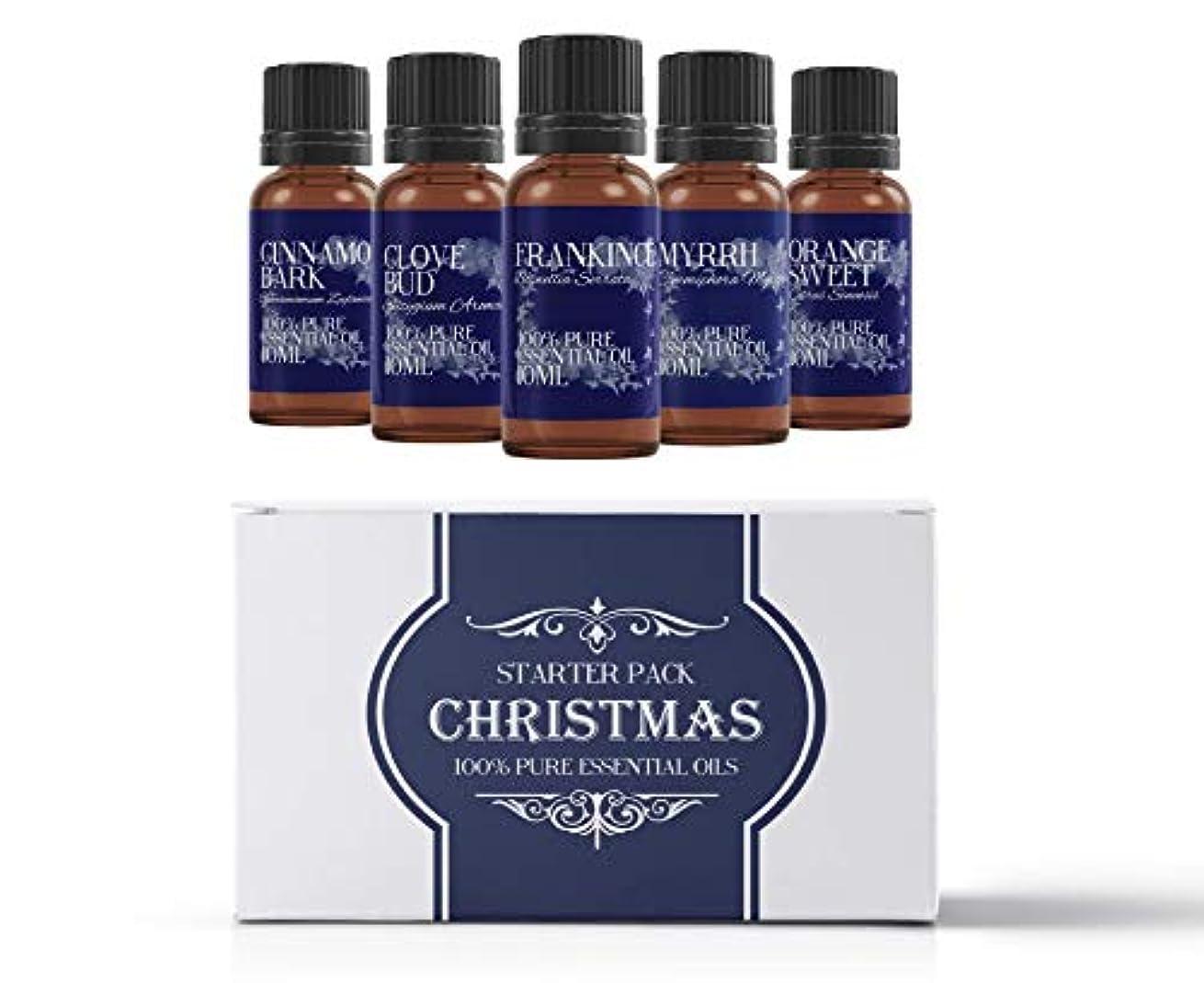 ポスター電気的ミルクMystic Moments | Essential Oil Starter Pack - Christmas Oils - 5 x 10ml - 100% Pure