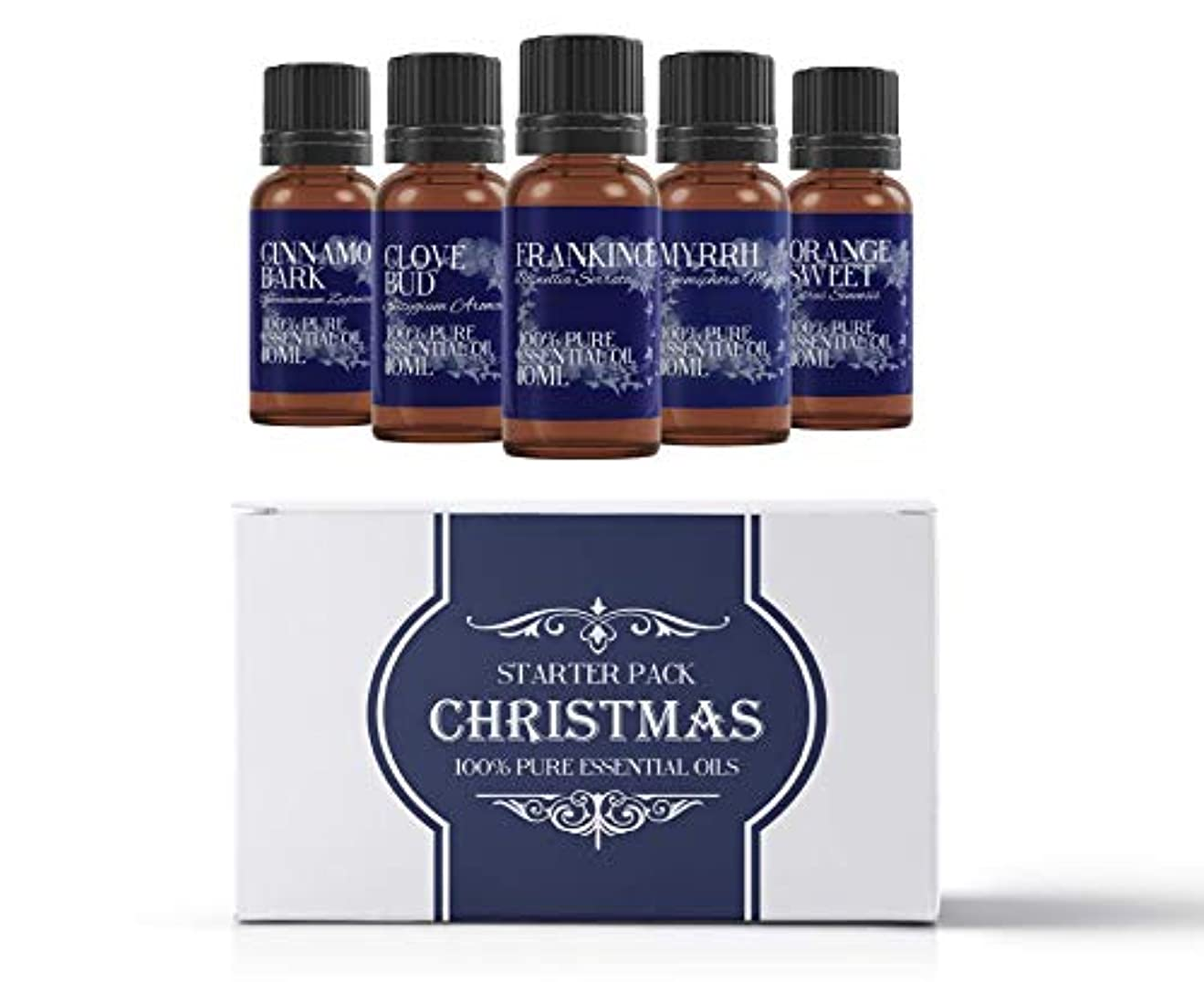 最後のアセ取り出すMystic Moments | Essential Oil Starter Pack - Christmas Oils - 5 x 10ml - 100% Pure