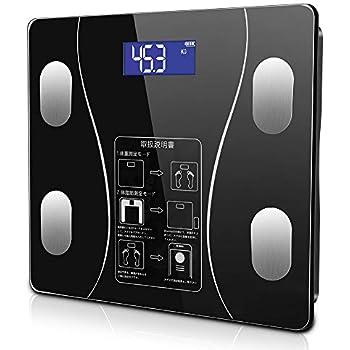 体重計 体脂肪計 体組成計 ヘルスメーター Bluetooth LCDデジタル表示 強化ガラス 高精度センサー スマートスケール 体重/体脂肪率/BMI/BMR/体内水分/骨量/骨格筋など測定 健康管理
