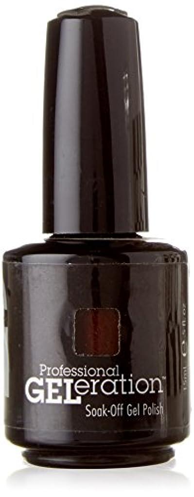 飾り羽圧縮するスナッチJESSICA ジェレレーションカラー GELERATION COLOURS 739 ブラウンシュガー 15ml UV/LED対応 ソークオフジェル