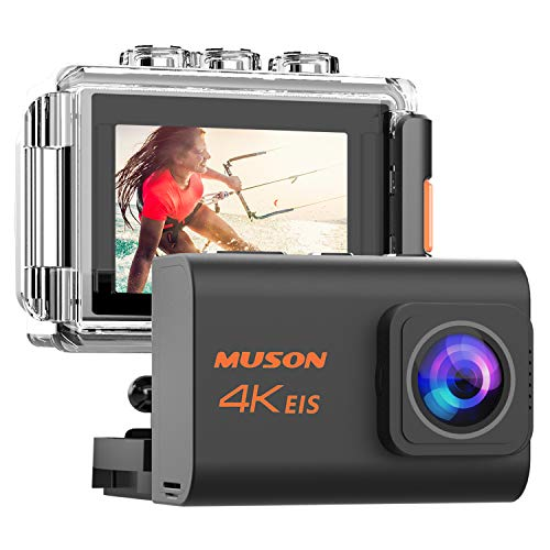 MUSON ウェアラブルカメラ アクションカメラ 4K高画質 2000万画素 B07GPW6YY9 1枚目