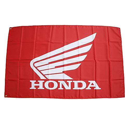 HONDA本田ホンダバイク翼クモーターサイクル 90cm*150cm フラッグ オートバイ特大旗 バナー 旗看板大判サイズ エンブレム外車ロゴ(HONDA)
