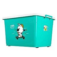 収納ボックスPP素材大容量家庭用服収納ボックス子供大型おもちゃ収納ボックス (色 : 青, サイズ さいず : S s)